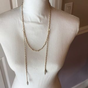 Jewelry - Asymmetrical crystal detailed layered necklace